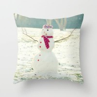 But, Snowmen Can't Talk Throw Pillow by RDelean | Society6