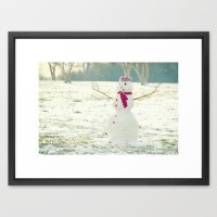 But, Snowmen Can't Talk Framed Art Print by RDelean | Society6
