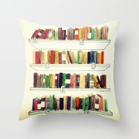 Books Throw Pillow by Ela Caglar | Society6