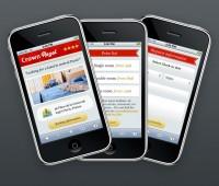 Mobi iPhone Landing Page - Mobile Interface - Creattica