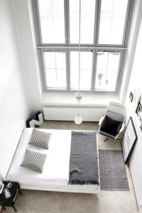 Clean white minimal bedroom interior design | Murray Mitchell