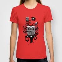 Love owl T-shirt by Viviana González | Society6