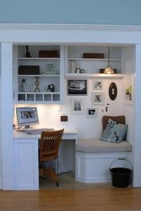 Bedrooms / Built in Desk in Closet