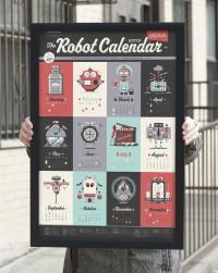 The 2013 robot calendar.