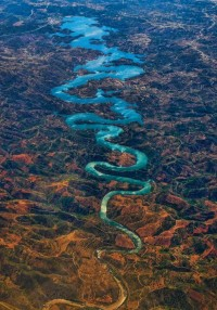 The Blue Dragon River in Portugal.