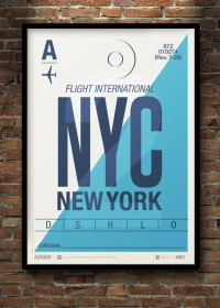 Gorgeous Minimalist Graphic Posters Inspired By Vintage Baggage Tags - DesignTAXI.com