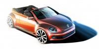 Volkswagen Beetle Cabriolet - Design Sketch - Car Body Design