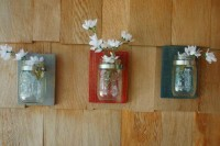 Your Color Choice for Three Mason jars by PineknobsAndCrickets