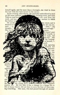 Les Miserables 1887 Page with Cosette by reimaginationprints