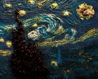 Van Gogh paintings made from salt, food-coloring, and spices — Lost At E Minor: For creative people