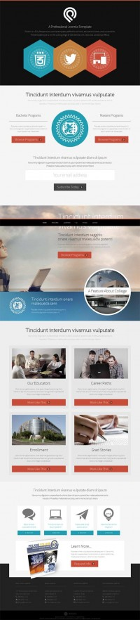 Polaris, Premium Joomla Parallax Portfolio Template | Premium Download