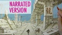 How to Draw a Dystopian Cityscape: Adding Details [Narrated] - YouTube