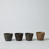 Mjölk : Hand carved sake cup by Tomiyama koichi - various lacquer finishes - Hand carved sake cups by Tomiyama koichi