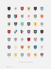 The Houses of Westeros poster - Darrin Crescenzi