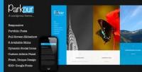 Parkour, Premium WordPress Horizontal Portfolio Theme | WP Download