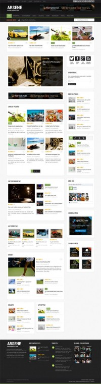 Arsene, WordPress Premium Blog Magazine Theme | WP Download