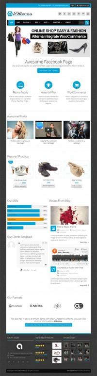 Alterna, Premium WordPress Facebook Fan Page Theme | WP Download