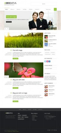 Adeodatus, WordPress Premium Responsive Business Theme | WP Download