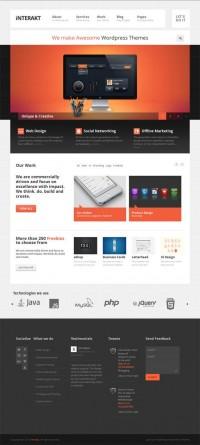 Interakt, WordPress Premium Responsive Corporate Theme | WP Download
