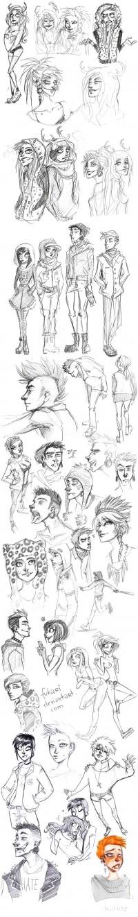 rought sketch dump by *Fukari