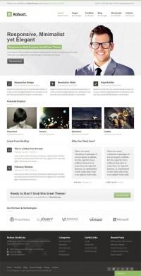 Robust, WordPress Premium Green Business Theme | WP Download