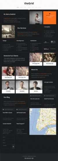 TheGrid, Premium WordPress Dark OnePage Theme | WP Download