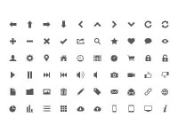 Free UI Icons by Sam Jones