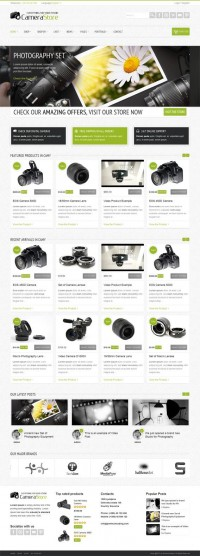 Camy, Premium WordPress Camera Shop Theme | WP Download