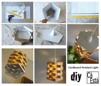 Cardboard Pendant Light DIY Projects | UsefulDIY.com