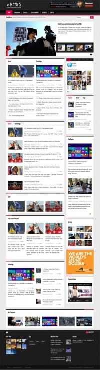 oNews, Premium Joomla Responsive Newspaper Template | Premium Download