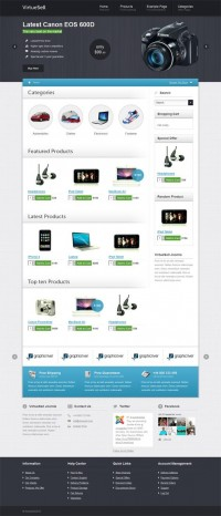 VirtueSell, Joomla Premium VirtueMart eShop Template | Premium Download