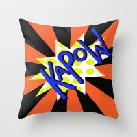 KaPoW! Throw Pillow by Veronica Ventress | Society6
