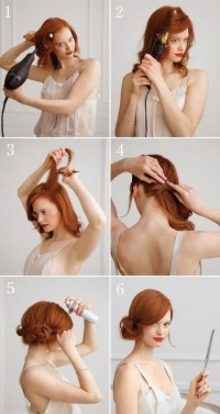 DIY Side Chignon for Medium-Length Hair Hairstyle DIY Projects | UsefulDIY.com