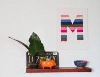 DIY Felt Initials | Say Yes to Hoboken