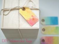 DIY: Watercolor Gift Tags + Watercolor Tips | Momtastic