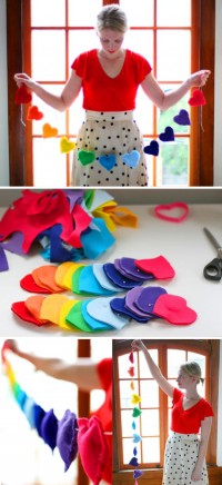 DIY: Rainbow Heart Banner | Say Yes to Hoboken