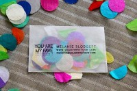 confetti business cards are my fave | You Are My Fave