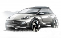 Opel Adam Rocks Concept Design Sketch - Car Body Design