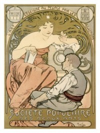 Magic Lantern Art Show reproduction procédé giclée par Alphonse Mucha sur AllPosters.fr