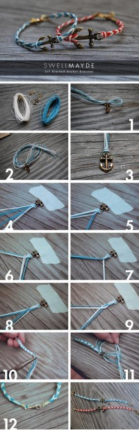 DIY Braided Anchor Bracelet DIY Projects | UsefulDIY.com