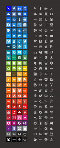 Freebie: Brands Icons And Color Style Guides (100 Icons, PNG) | Smashing Magazine
