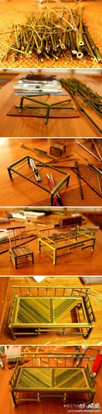 DIY Mini Bamboo Furnitures DIY Projects | UsefulDIY.com