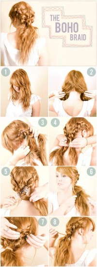 DIY Double Boho Braid Hairstyle DIY Projects | UsefulDIY.com
