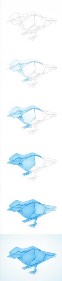 TwitterBirdProcess.jpg by Yoga Perdana