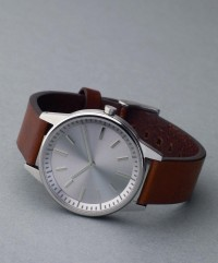 251 Series (Brushed Steel / Walnut Brown Leather) | Uniform Wares