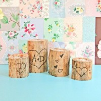 Wood Burned Heart Tree Candle Holders | Just Imagine – Daily Dose of Creativity