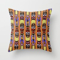 Totem Throw Pillow by Veronica Ventress | Society6