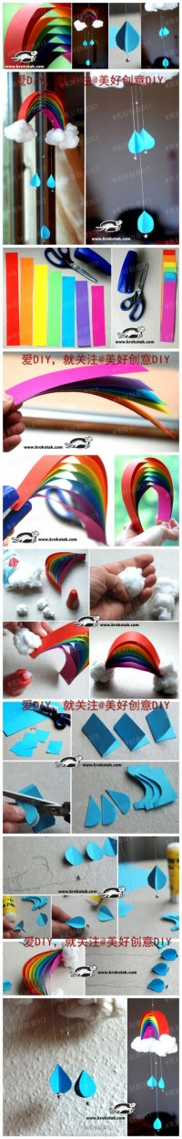 DIY Beautiful Rainbow Mobile DIY Projects | UsefulDIY.com