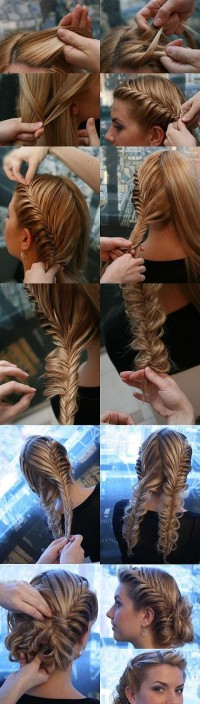 DIY Bilateral Fish Bone Braid Hairstyle DIY Projects | UsefulDIY.com