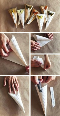 DIY Paper Cone Gift Box DIY Projects | UsefulDIY.com